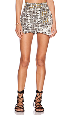 Free People Tribal Skort in Ivory Combo