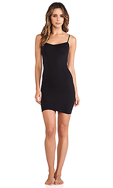 Free People Seamless Mini Slip in Black