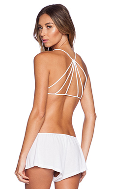Free People Strappy Back Bra in White
