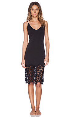 Free People True Slinky Bodycon Slip in Shell