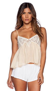 Free People Sweet Lace Cami in Light Peach Combo