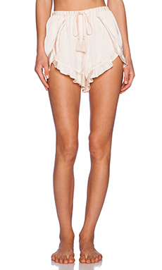 Free People Cascading Petal Short in Vanilla
