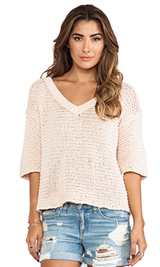 Free People Park Slope Sweater in Blush