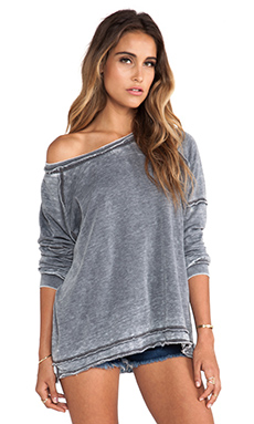 Free People Never Can Tell Pullover in Grey