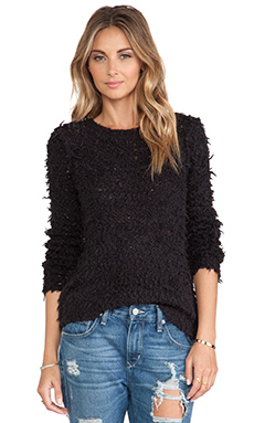 Free People September Song Pullover in Charcoal