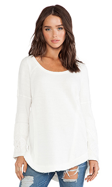 Free People You Don't Know Me Tunic in Cream