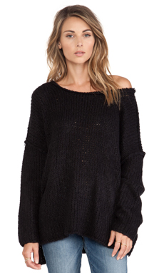 Free People Teddy Bear Pullover in Black