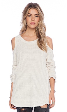 Free People Sunrise Pullover in Cream