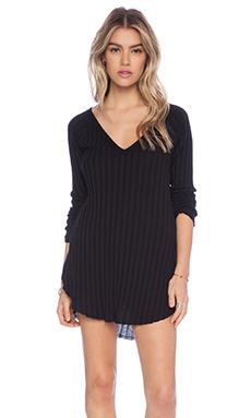 Free People Beach Babe Hacci Sweater in Black