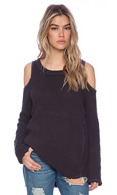 Free People Sunrise Pullover in Charcoal