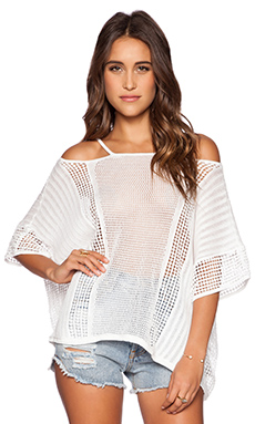 Free People Echo Pullover in Ivory Combo