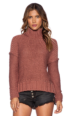 Free People Long Summer Pullover in Desert Pink