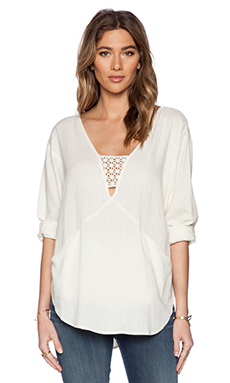 Free People Just Cruisin Pullover in Ivory