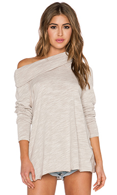Free People Cocoon Cowl Sweater in Oatmeal