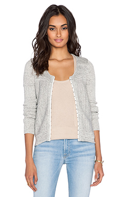 Free People Never Again Cardigan in Grey Combo