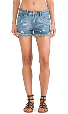 Free People Rugged Ripped Denim Short in True Blue