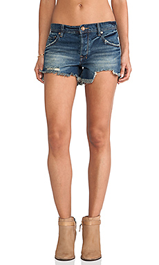 Free People Sharkbite Shorts in Royal Wash