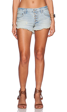 Free People Shark Bite Short in Fawn