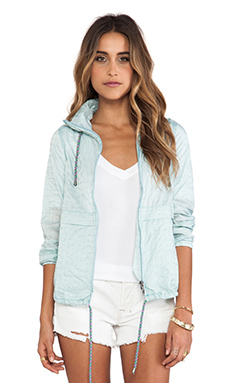 Free People Parachute Festival Jacket in Caribbean Blue