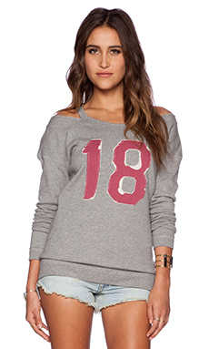 Free People Stadium Sweatshirt in Heather Grey