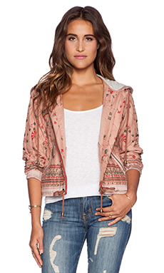 Free People Hooded Jacket in Cotton Candy