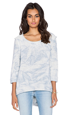 Free People Cloudy Day Sweatshirt in Blue