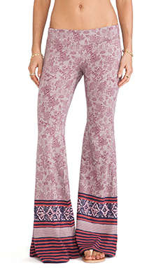 Free People Flare Pull on Pant in Taupe Combo