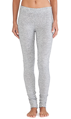 Free People Heathered Knit Legging in Light Grey