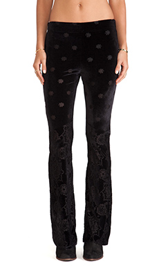 Free People Babybell pant in Black Combo
