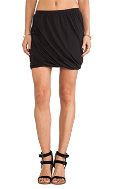 Free People Heather Twisted Bubble Skirt in Black Combo