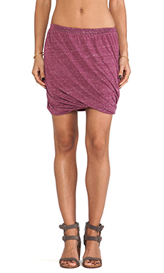Free People Heather Twisted Bubble Skirt in Cranberry