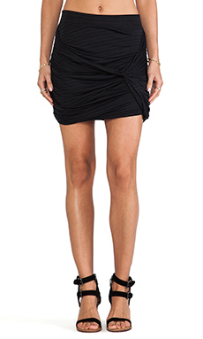Free People Twistiful Mini Skirt in Black