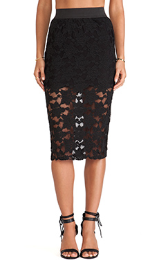 Free People Pencil Skirt in Black