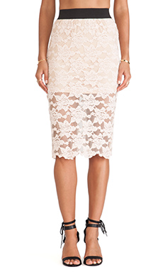 Free People Pencil Skirt in Blush
