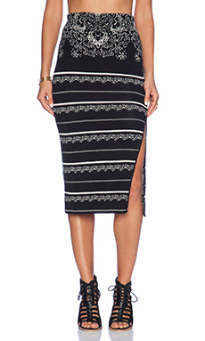 Free People Irreplaceable Pencil Skirt in Black Combo