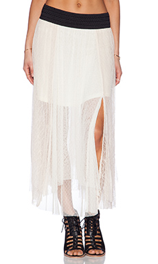 Free People Sugar Plum Tutu Skirt in Ivory Combo