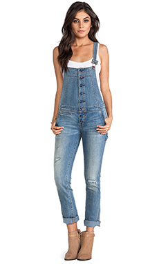 Free People Button Front Overall in True Wash