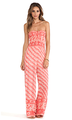 Free People Vintage Tube Romper in Red Combo