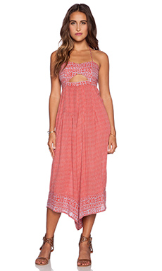 Free People Crystal Bay Jumpsuit in Burnt Sunset Combo