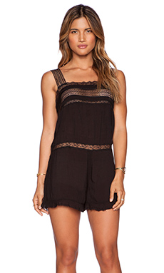 Free People Izzy Romper in Black