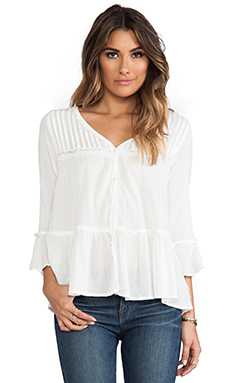 Free People Clementine Bed Top in Ivory