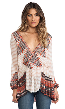 Free People Mystic Top in Ivory Combo
