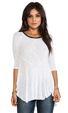 Free People Weekends Layering Tee in Snow Combo