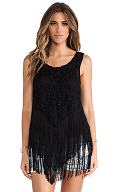 Free People On The Fringe Top in Black