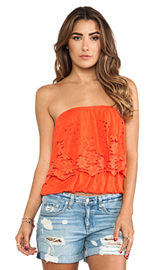 Free People Bridget Tube Top in Fire Red