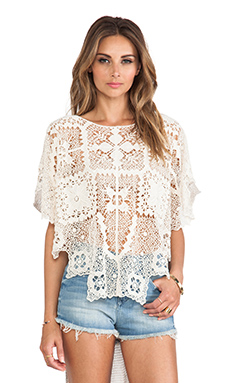Free People Bad Romance Top in Ivory Combo