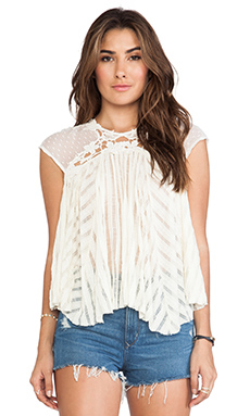 Free People Stars Align Top in Eggshell