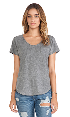 Free People Wildfire Tee in Grey Heather