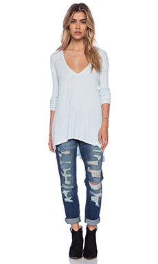 Free People Drippy Thermal in Ice Blue Heather