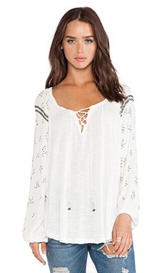 Free People Golden Nugget Tee in Ivory